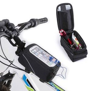 Bicycle Phone Bag in Black