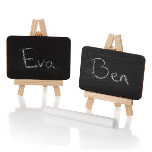 chalkboard craft ideas mini easel chalk board place card holders 1256